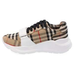 Burberry Check Canvas Regis Chunky Sneakers Size EU 44