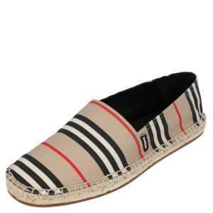 حذاء إسبادريلز بربرى كانفاس كاروهات متعدد الألوان مقاس EU 45