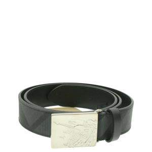 Burberry Black PVC Leather Belt