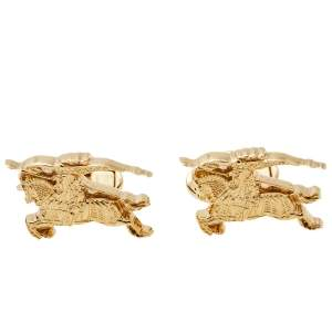 Burberry Gold Tone Equestrian Knight Cufflinks