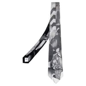 ربطة عنق بربري حرير كلاسيك رصاصي