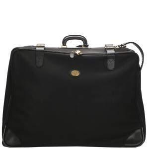 Burberry Black Nylon Leather Travel Bag