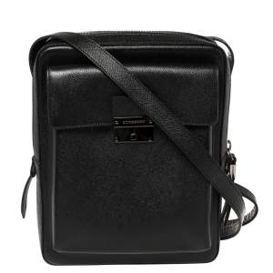 Burberry Black Leather Small Shaldon Messenger Bag