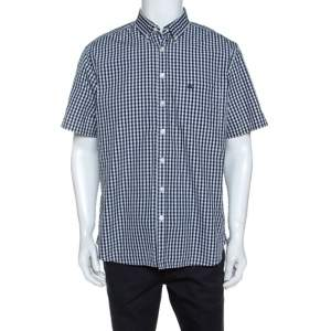 Burberry Brit Monochrome Checked Short Sleeve Shirt XL