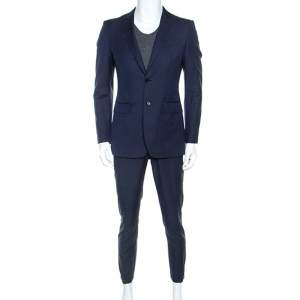 Burberry Navy Blue Wool Two Buttoned Milbury Suit M