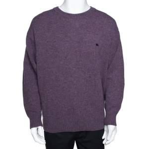 Burberry Purple Wool Crew Neck Sweater XXL