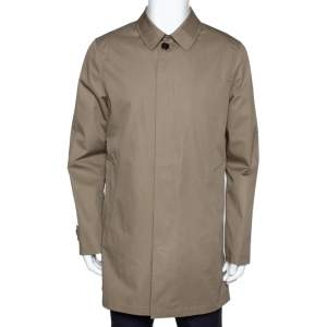 Burberry Brit Khaki Cotton Button Front Car Coat M