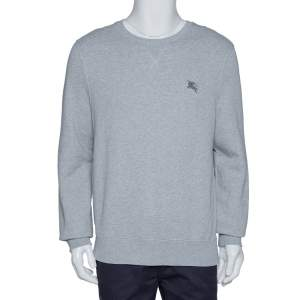 Burberry Brit Grey Melange Cotton Claridge Sweatshirt L