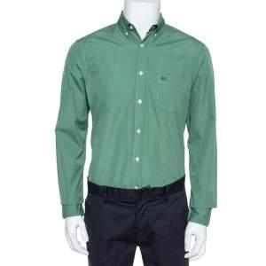 Burberry Brit Green Cotton Button Front Long Sleeve Shirt M
