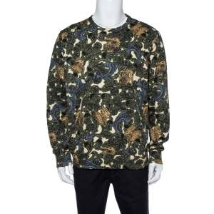 Burberry Multicolor Cotton Printed Sweatshirt XL