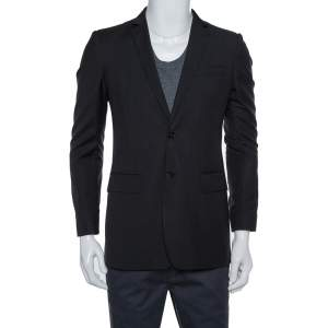 Burberry London Black Wool Classic Tailored Blazer S