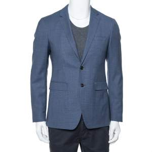 Burberry Navy Blue Wool Classic Blazer S