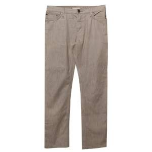 Burberry Brown Denim Straight Leg Steadman Jeans M