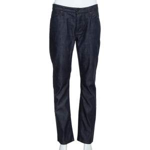 Burberry Navy Blue Denim Straight Leg Steadman Jeans S