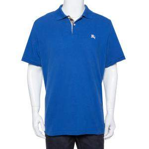 Burberry Brit Blue Cotton Pique Polo T-Shirt L