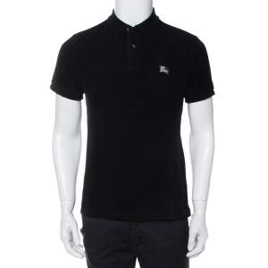 Burberry Brit Black Cotton Pique Polo T-Shirt M