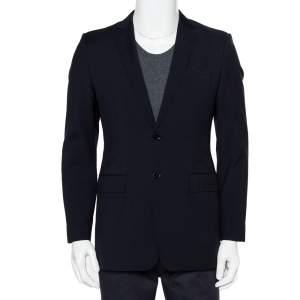 Burberry Midnight Blue Wool Button Front Milbury Blazer M