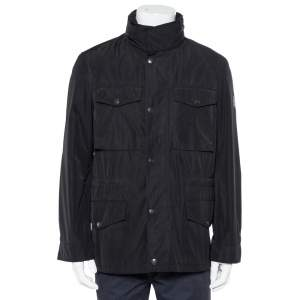 Burberry Brit Black Synthetic Pocket Detail Zip Front Jacket S