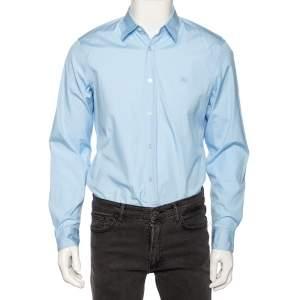 Burberry Brit Light Blue Novacheck Detail Cotton Shirt L