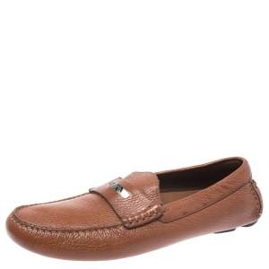 Burberry Brown Leather Loafers Size 42
