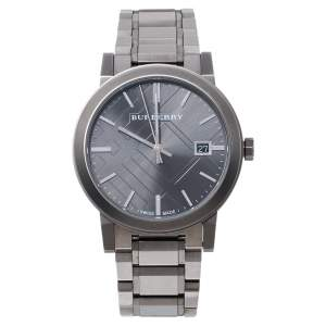 Burberry Grey Ion Plated Stainless Steel The City BU9007 Men's Wristwatch 38 MM