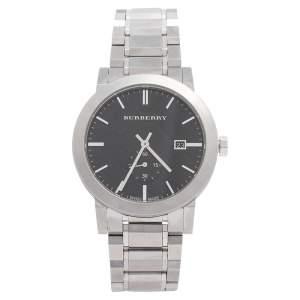 ساعة يد رجالية بربري BU9901 ستانلس ستيل سوداء 42 مم