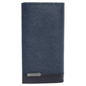 Bvlgari Blue/Black Leather Scaglie Long Wallet