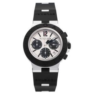 Bvlgari Grey Aluminum Rubber BB40ATCH Men's Wristwatch 40 mm