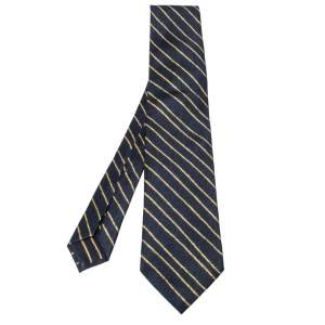 Bvlgari x Davide Pizzigoni Bicolor Diagonal Striped Silk Tie