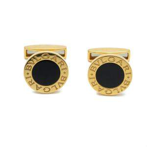 Bvlgari Bvlgari 18k Yellow Gold & Onyx Cufflinks