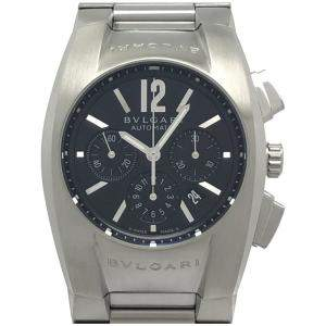 Bvlgari Black Stainless Steel Ergon Chronograph EG35SCH Men's Wristwatch 35MM