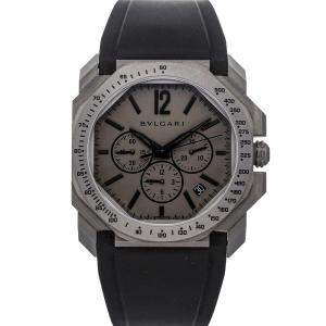 Bvlgari Gray Titanium Octo L'Originale Chronograph 102859 Men's Wristwatch 41 MM