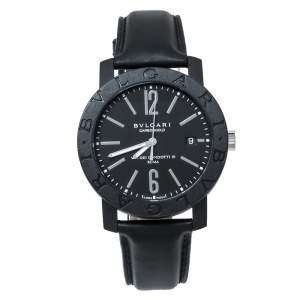 Bvlgari Black Carbongold Via Dei Condotti 10 Roma BB 40 CL Men's Wristwatch 40 mm