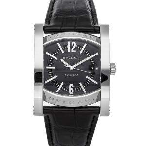 Bvlgari Black Stainless Steel Assioma AA48S Men's Wristwatch 48 x 38 MM