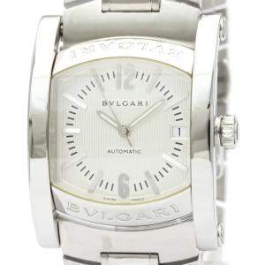 Bvlgari Silver Stainless Steel Assioma Automatic AA44S Men's Wristwatch 44 MM