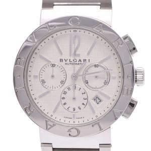 Bvlgari White Stainless Steel Bvlgari BB42SSCH Automatic Men's Wristwatch 42 MM