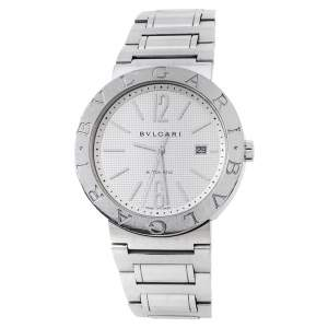 Bvlgari White Stainless Steel Bvlgari BB42WSSD 101381 Men's Wristwatch 42 mm