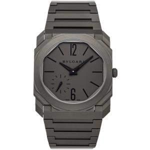 Bvlgari Gray Titanium Octo Finissimo 102713 Men's Wristwatch 40 MM