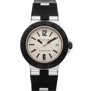 Bulgari Silver Titanium And Aluminum Diagono 103382 Men's Wristwatch 38 MM