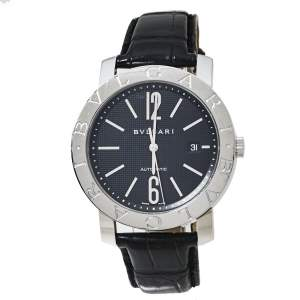Bvlgari Bvlgari Black Stainless Steel BB 42 SL Auto Men's Wristwatch 42 MM