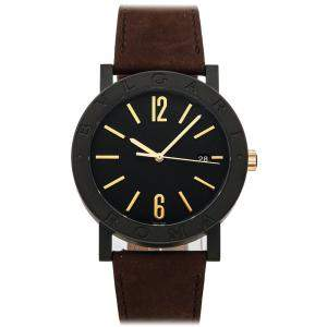 Bvlgari Black Coated Stainless Steel Bvlgari-Bvlgari Cities Special Edition 103219 Men's Wristwatch 41 MM