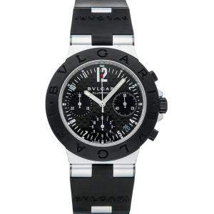Bvlgari Black Aluminum Diagono Chronograph AC38TA Men's Wristwatch 38 MM