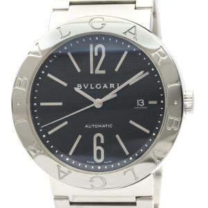 Bvlgari Black Stainless Steel Automatic Bvlgari BB42SS Men's Wristwatch 42 MM