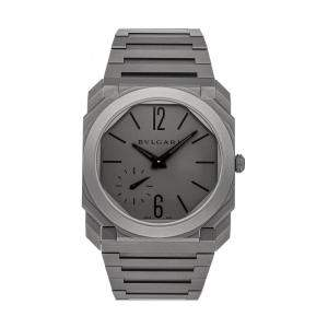 Bvlgari Grey Titanium Octo Finissimo 102713 Men's Wristwatch 40 MM