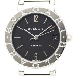 Bvlgari Black Stainless Steel Bvlgari Bvlgari BB33SS Automatic Men's Wristwatch 33 MM
