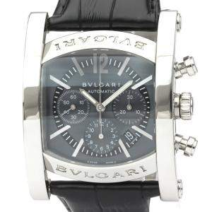 Bvlgari Black Stainless Steel Assioma Aa44Sch Automatic Men's Wristwatch 44 MM