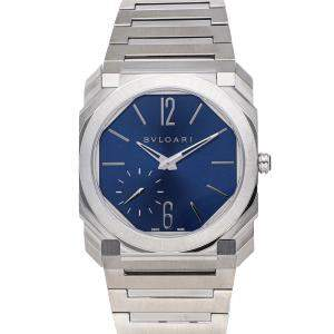 Bulgari Blue Stainless Steel Octo Finissimo 103431 Men's Wristwatch 40 MM
