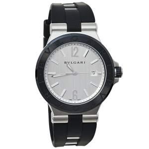 ساعة يد رجالية بلغاري دياغونو 102252اوتوماتيكية سيراميك و ستانلس ستيل فضية 42 مم