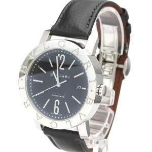 Bvlgari Black Stainless Steel BB42SL Men's Wristwatch 42 MM
