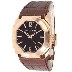 Bulgari Black 18K Rose Gold Bvlgari Octo 102250 BGO P 41 G Men's Wristwatch 41 MM